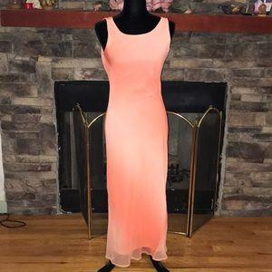 Beautiful long peach dress!
